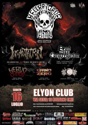 Hellbrigade Festival 6 with Incantation - Dead Congregation - Grind Zero - 16/07/2016